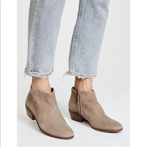 Sam Edelman Taupe Petty Ankle Booties